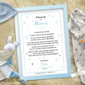 Geschenk für Taufpate - Patenbrief