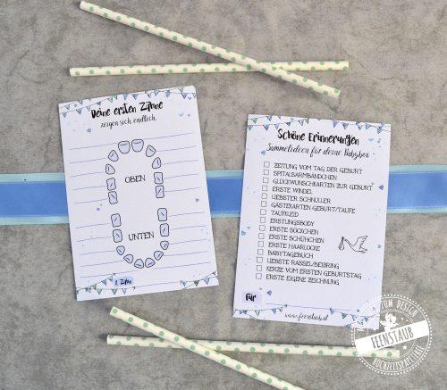 Zahnkarte für die ersten Zähne