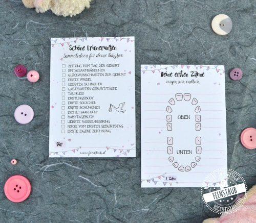 Zahnkarte für Baby