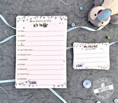 Wunschkarten und Ratschlagkarten zur Geburt