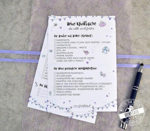 Kliniktasche Geburt Checkliste