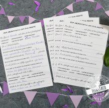 Geburtstag Geschenk Gästebuchkarten
