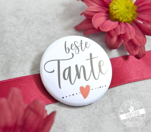 beste Tante Button
