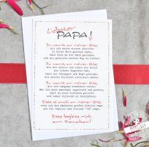 Karte für Papa zum Altar begleiten
