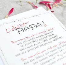 Karte für Papa fragen, ober er Braut zum Altar führt und begleitet