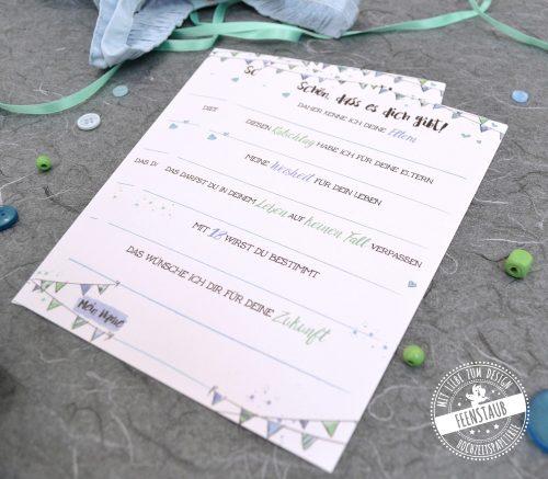 gästebuch Karten zum ausfüllen für Baby