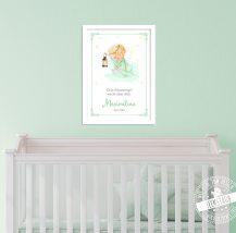 Schutzengel Bild mit Spruch für Kinderzimmer