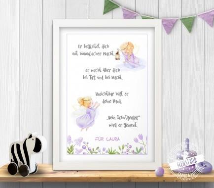 Schutzengel Print für Kinderzimmer