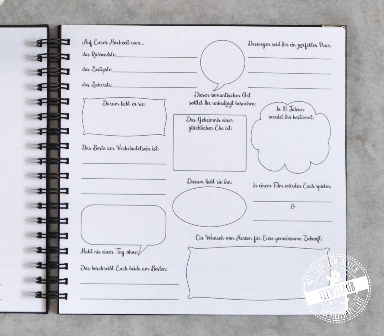 Fragen gästebuch hochzeit lustige Hochzeitsgästebuch ♥