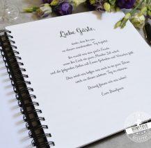 Spruch für Gästebuch erste Seite