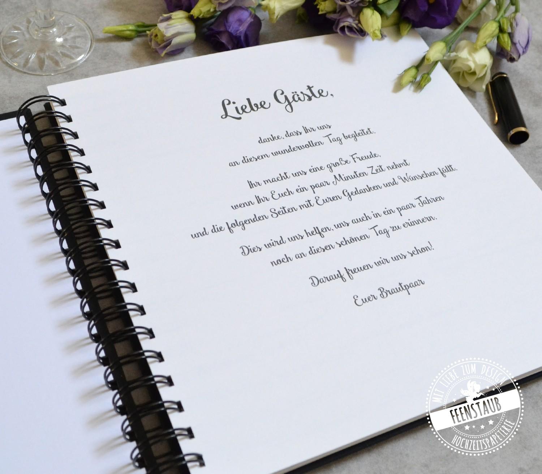 Wünsche gästebuch hochzeit Passende Hochzeitssprüche