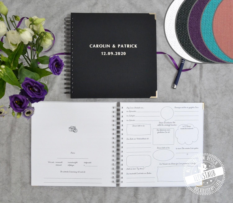 Hochzeit Gästebuch Mit Fragen
