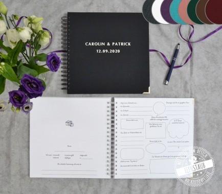 Hochzeitsgästebuch mit Fragen personalisierbar
