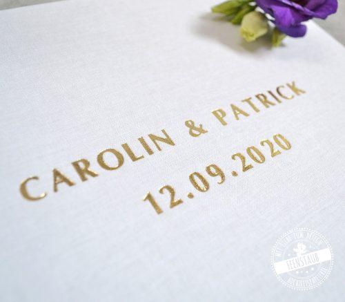 Hochzeitsgästebuch weiß und gold