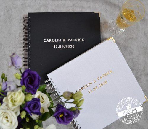 Personalisierbare Gästebücher für die Hochzeit