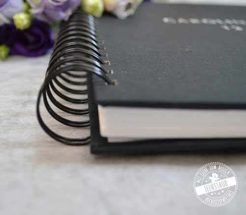 Hochzeitsgästebuch mit Spiralbindung