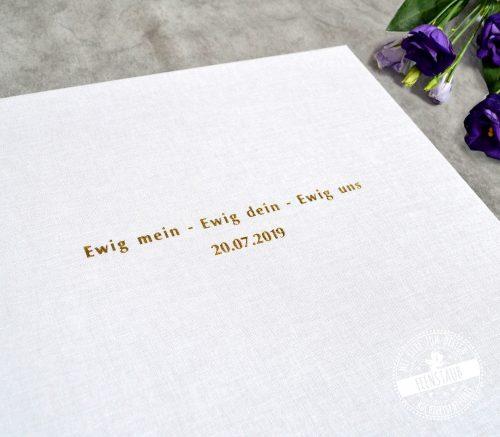 Ewig mein, ewig dein, ewig uns - hochzeitsspruch auf Gästebuch