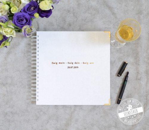 personalisierbares Hochzeitsgästebuch