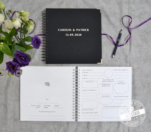 Taufe Gästebuch mit Fragen