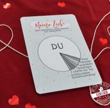 Valentinstag Karte Liebes Diagramm