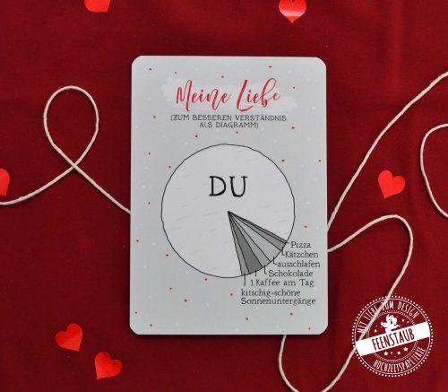 Valentinstag Valentinskarte Liebes Diagramm