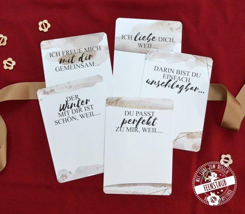 Love Letters Postkarten zum Vervollständigen