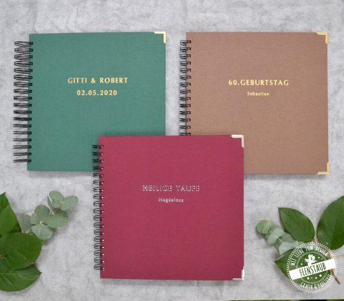 Hochzeitsgästebuch personalisierbar mit Namen