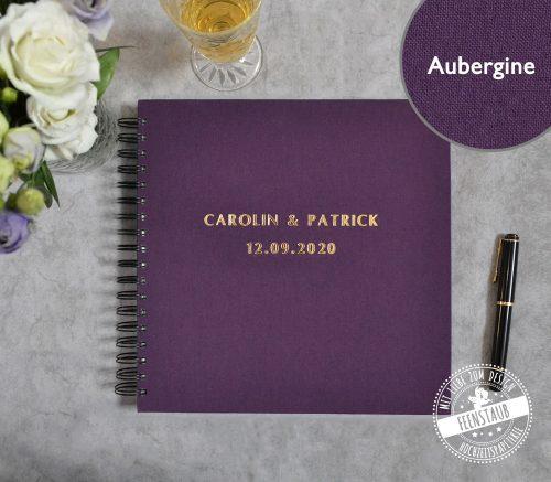 Gästebuch in Aubergine