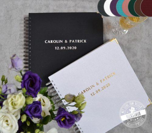 hochzeitsgästebuch personalisierbar