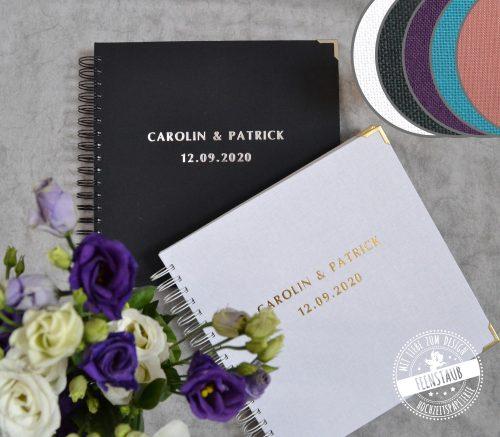 Hochzeitsgästebücher personalisierbar