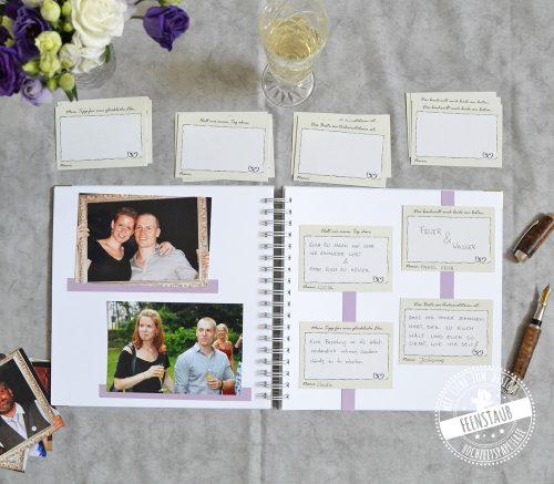 Hochzeitsalbum für Fotos und Erinnerungen