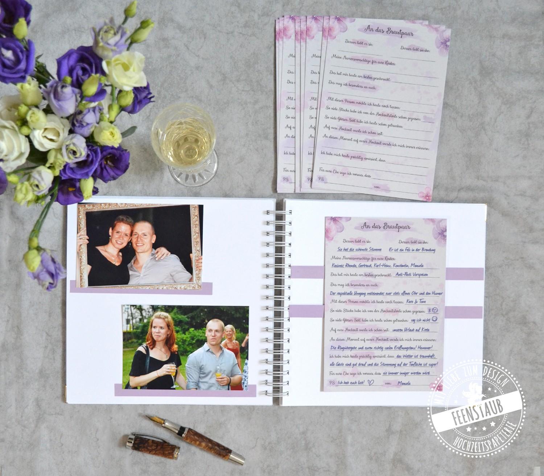 Hochzeitsgästebuch für Fotos und Karten