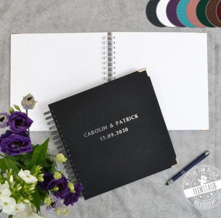 Hochzeitsgästebuch Leinencover