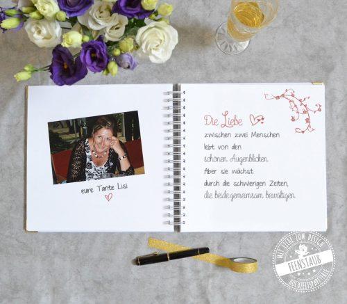Gästebuch für Hochzeit personalisierbar