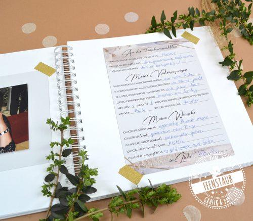 gästebuch für hochzeit Karten zum Ausfüllen