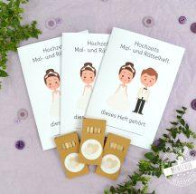 Malhefte für Kinder auf Hochzeiten mit Buntstiften
