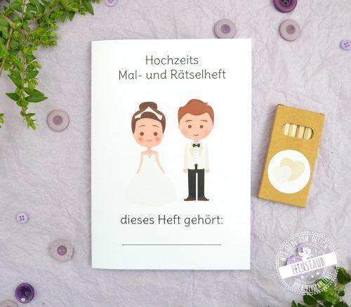 Ausmalbuch für Kinder auf Hochzeiten