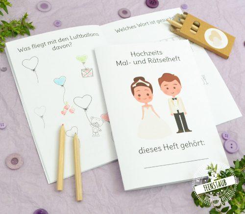 Hochzeit Mal- und Rätselheft