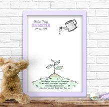 Spruch Baby wachsen Fingerabdruckbild