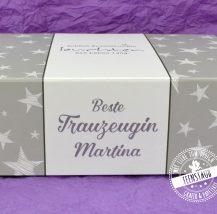Trauzeugin Box mit Namen