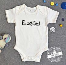 Baby Body mit Aufdruck Einzelstück und Button nicht von schlechten Eltern, als kleines Geschenk zur Geburt
