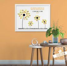 Fingerabdruck Bild Blumen