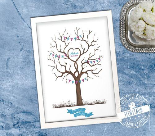Geburtstag Fingerabdruckbaum Geburtstagsbaum