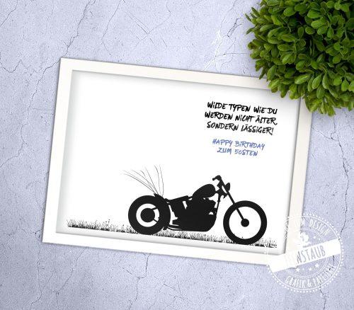 Motorrad Bike Geburtstagsgästebuch