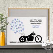 Motorrad Fingerabdruckbild