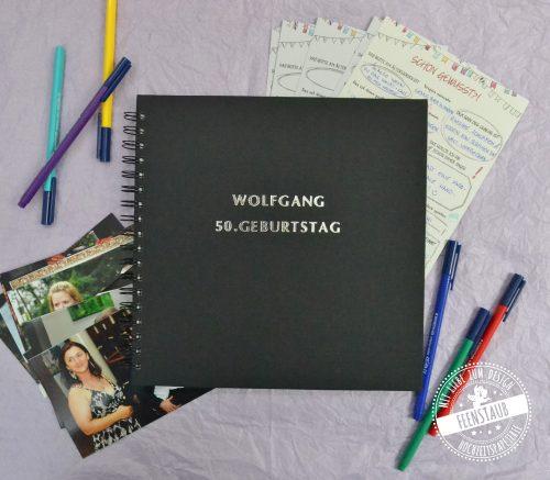 Geburtstagsgästebuch für Fotos und Gästebuchkarten