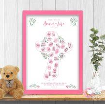 Fingerabdruckbild christliches Symbol Kreuz