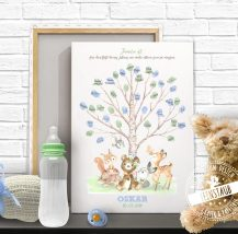 Taufbaum auf Leinwand für Fingerabdrücke