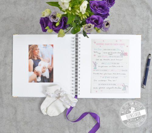 Gästebuch Taufe zum Einkleben von Fotos und gästebuchkarten