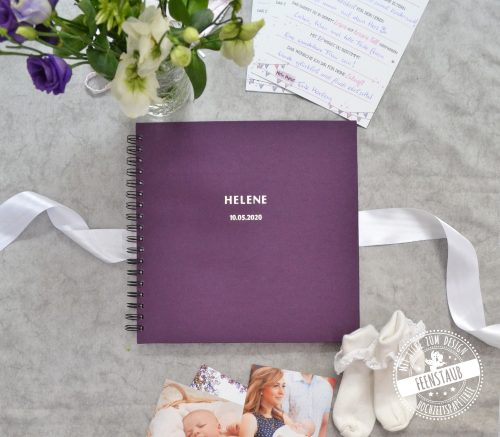 Gästebuch Taufe personalisierbar mit Namen und Datum